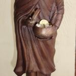 หลวงพ่อชำนาญ วัดบางกุฎีทอง พระบูชายืนอุ้มบาตรเนื้อโลหะ บาตรสัมฤทธิ์ จัดสร้าง 1999 องค์ พร้อมส่งค่ะ Line:@0611859199n