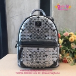 MCM backpack สีเงิน งานHiend 1:1
