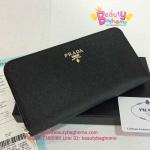 Prada Zippy Wallet สีดำ