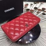 Chanel Zippy Wallet สีแดง งานTOP MIRRORเกาหลีระดับHiend