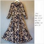 Vintage dress : แมกซี่เดรสคอถ่วง ลายกราฟฟิค มีสายผูกปรับระดับด้านหลัง ผ้าสวยพริ้วทิ้งตัวมาก