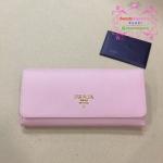 Prada Wallet สีชมพูอ่อน งานHiend