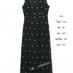 vintage dress : เดรสยาววินเทจสีดำงานปัก ปักลายดอกรอบตัว เนื้อผ้าชีฟอง พร้อมซับใน