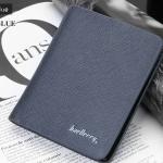 WS05-Blue กระเป๋าสตางค์ใบสั้น แนวตั้ง กระเป๋าสตางค์ผู้ชาย หนัง PU เกรดเอ สีน้ำเงิน