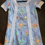 Vintage Top: เสื้อวินเทจงานปัก สามารถใส่เป็นมินิเดรสได้ค่ะ ปักลายเฉพาะด้านหน้าแต่งลูกเล่นด้วยผ้าลูกไม้ ผ้าเนื้อดีไม่หนา ใส่สบาย
