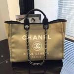 Chanel Jeans Shopping bag สีน้ำตาลอ่อน งานHiend1:1