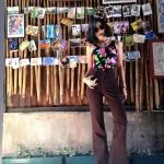 Vintage jean : กางเกงยีนส์ขาม้าเอวสูง สีน้ำตาล ทรงสวยเก็บหุ่นเป๊ะ