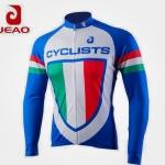 **สินค้าพรีออเดอร์** เสื้อจักรยานแขนยาว สีน้ำเงิน ลายอิตาลี่ (เสื้อจักรยานราคาถูก คุณภาพดี)