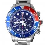 นาฬิกา Seiko Men Chronograph Solar System Diver 200m seiko ssc019P สาย Stainless Pepsi