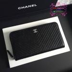 Chanel wallet chevron สีดำ งานHiend Original