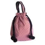 กระเป๋าแบบถุง (ชมพูลายจุดดำ)