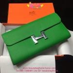 Hermes Constance clutch wallet สีเขียว