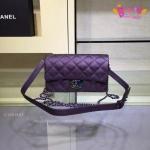 Chanel mini 8'สีม่วง งานHiend Original