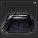 LT28 กระเป๋าสะพายข้าง หนัง PU สีดำ
