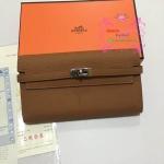 Hermes kelly wallet สีน้ำตาล Hiend