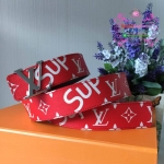 Louis vuitton Supreme belt งานHiend 1:1