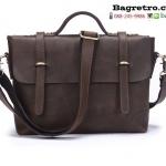 กระเป๋าหนังแท้ BRT-061 น้ำตาล