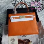 Hermes kelly 28 สีส้ม งานHiend