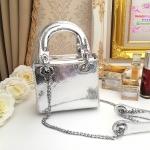 กระเป๋า Fashion งานเกาหลี คล้ายแบบของ Dior mini สีเงิน งานสวยเนี๊ยบ