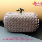 Bottega Veneta knot clutch สีทอง งานHiend
