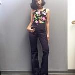 Vintage jeans : กางเกงขาม้าเอวสูง สีเทาเข้ม ทรงสวยเก็บหุ่นเป๊ะ