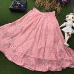 vintage skirt : กระโปรงลูกไม้ ทรงบานย้วยวงกลม ผ้าสวย พริ้วทิ้งตัวดี