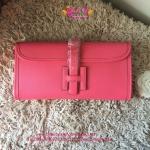 Hermes wallet Clutch สีชมพู งานHiend Original