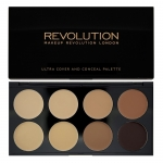 Makeup Revolution (MUR) - Ultra Cover and Concealer Palette Medium - Dark
