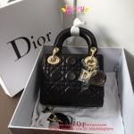 Dior lady mini 7 นิ้ว สีดำ งานTOP MIRRORเกาหลีระดับHiend