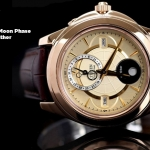 นาฬิกา CITIZEN Eco - Drive Moon Phase Sapphire Rose Gold สายหนัง BU0003-13P