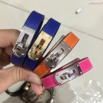 Hermes Kelly Double Tour Bracelet สีน้ำตาล, สีเทา, สีส้ม, สีชมพูบานเย็น, สีน้ำเงิน