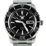 นาฬิกา Seiko Automatic Sports Mens Diver Watch Black SNZH55K1