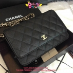 Chanel woc สีดำ 8 นิ้ว Carvier