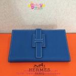 Hermes Jige Portfolio Clutch สีฟ้า