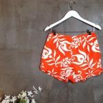 vintage pants : กางเกงขาสั้นเอวสูง สีสดมาก made in Hawaii แพตเทิร์นสวยผ้าเนื้อดีมีซับในค่ะ