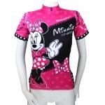 **พรีออเดอร์** เสื้อปั่นจักรยานผู้หญิง Minnie (เสื้อแขนสั้นขี่จักรยาน)