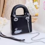 กระเป๋า Fashion งานเกาหลี คล้ายแบบของ Dior mini สีดำ งานสวยเนี๊ยบ