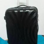 กระเป๋าเดินทางราคาถูก 24 นิ้ว ลายพัดสีดำ ของใหม่ คุณภาพดี