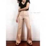 Vintage pants : กางเกงขาม้าเอวสูง สีออกนู้ดๆ ทรงสวย ผ้าดี