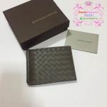 Bottega clip Wallet สีเทา งานHiend