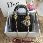 Dior lady mini สีดำ งานTOP MIRRORเกาหลีระดับHiend