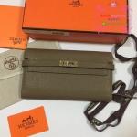 Hermes kelly wallet สีเทา Hiend