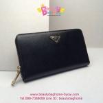 Prada Zippy wallet สีดำ งานHiend