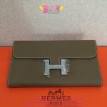 Hermes Constance clutch wallet สีเทา