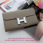 Hermes constance clutch wallet สีเทา งานHiend