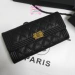 Chanel boy wallet สีดำ งานHiend Original