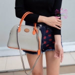 กระเป๋าหนังแท้ A++ สีทูโทน กระเป๋า Fashion นำเข้าเกาหลี แบบเหมือนของ Hermes