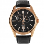 Orient Automatic Gold and rose gold Leather Watch Orient ET0R002B