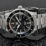 นาฬิกา Seiko Automatic Sports Mens Diver Watch Black SNZH55K1