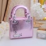 กระเป๋า Fashion งานเกาหลี คล้ายแบบของ Dior mini สีชมพู งานสวยเนี๊ยบ